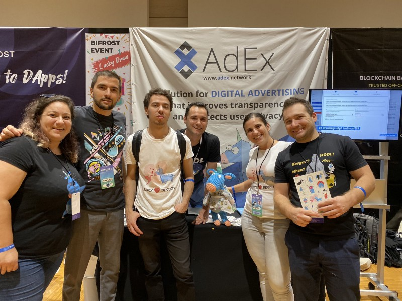 The AdEx team at Devcon5