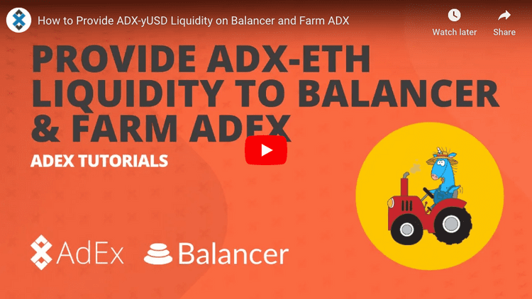 WATCH A VIDEO TUTORIAL FOR PROVIDING LIQUIDITY ON BALANCER
