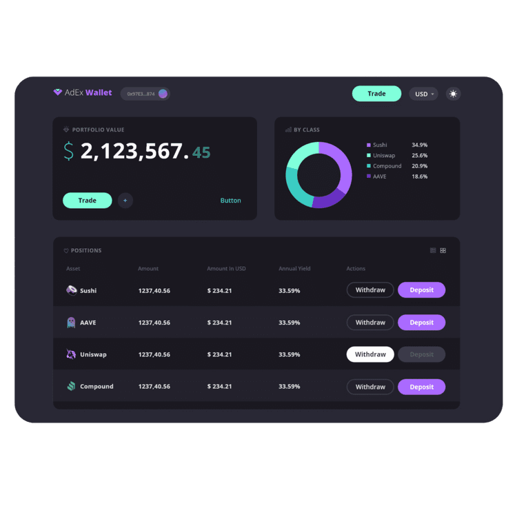 adex wallet preview
