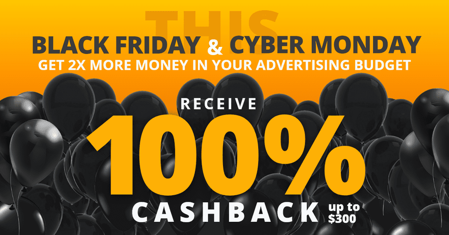 Adex Network Adex Black Friday Promo Get 100 Cashback On Your Campaigns